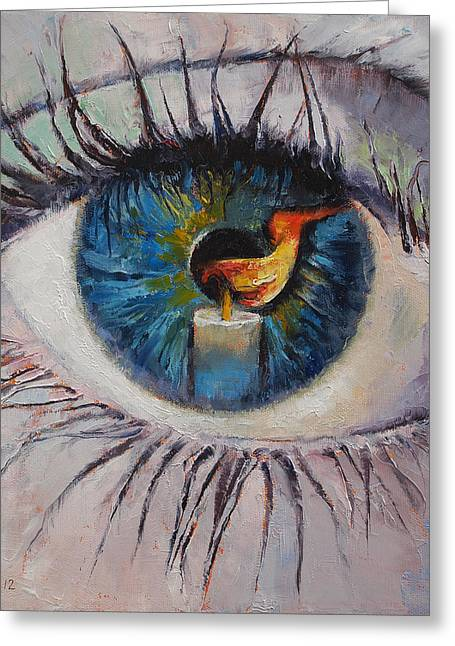 Eyelash Greeting Cards - Candle Greeting Card by Michael Creese