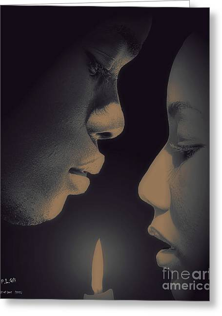 Candle Lit Greeting Cards - Candle Of Love Greeting Card by Pedro L Gili