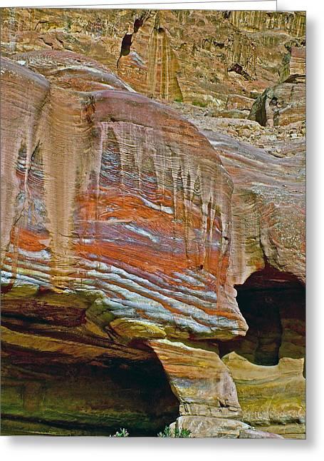 Petra - Jordan Digital Greeting Cards - CANDLE WAX along a Trail in Petra-Jordan Greeting Card by Ruth Hager