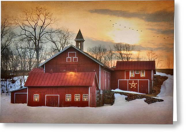 Candleglow Greeting Card by Lori Deiter