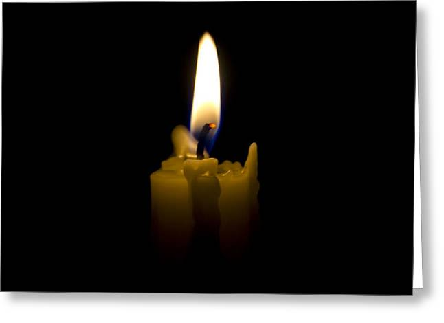 Candlelight Greeting Card by Bill Cannon