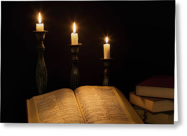 Candle Lit Greeting Cards - Candlelight  Greeting Card by Bill  Wakeley