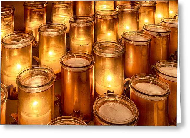 Candle Lit Greeting Cards - Candlelight Greeting Card by Lindley Johnson