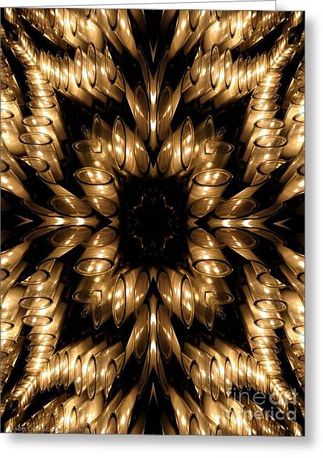 Sacramental Greeting Cards - Candles Abstract 5 Greeting Card by Rose Santuci-Sofranko