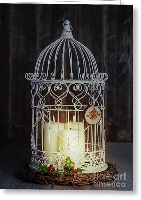 New Year Greeting Cards - Candles At Night Greeting Card by Amanda And Christopher Elwell