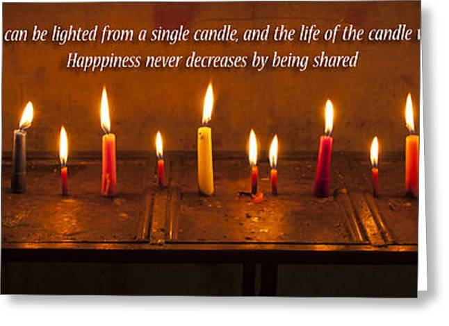 Light And Dark Greeting Cards - Candles  Greeting Card by Nichon Thorstrom