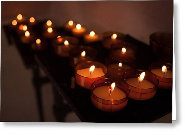 Deutschland Greeting Cards - Candles of Hope Greeting Card by Miguel Winterpacht