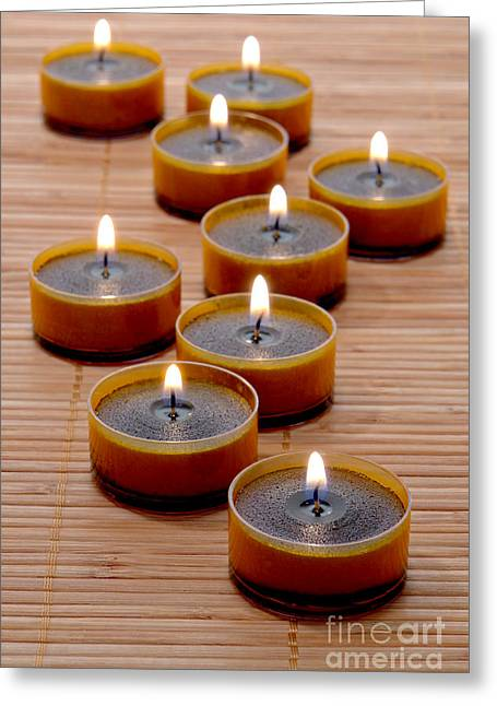 Burning Greeting Cards - Candles Greeting Card by Olivier Le Queinec