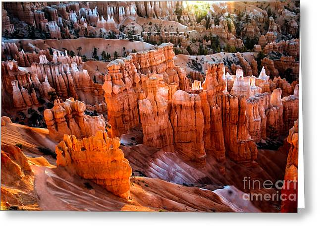 Haybale Greeting Cards - Candlestick Hoodoos Greeting Card by Robert Bales