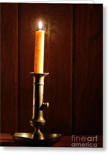 Candles Greeting Cards - Candlestick Greeting Card by Olivier Le Queinec