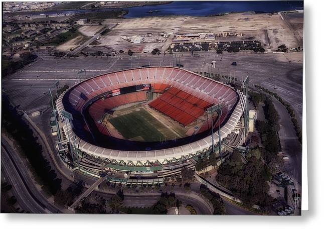 National Football League Greeting Cards - Candlestick Park Greeting Card by Mountain Dreams