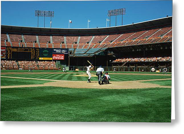 San Francisco Images Greeting Cards - Candlestick Park San Francisco Ca Greeting Card by Panoramic Images