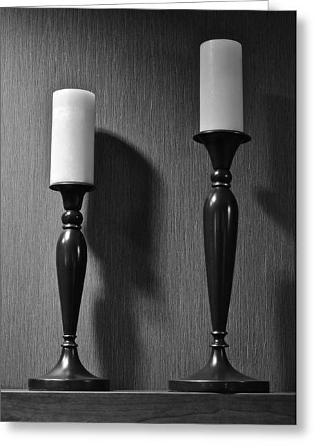 Recently Sold -  - Candle Stand Greeting Cards - Candlestick Greeting Card by Frozen in Time Fine Art Photography