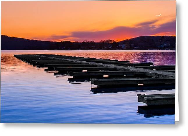 Calm Waters Greeting Cards - Candlewood Lake Greeting Card by Bill  Wakeley