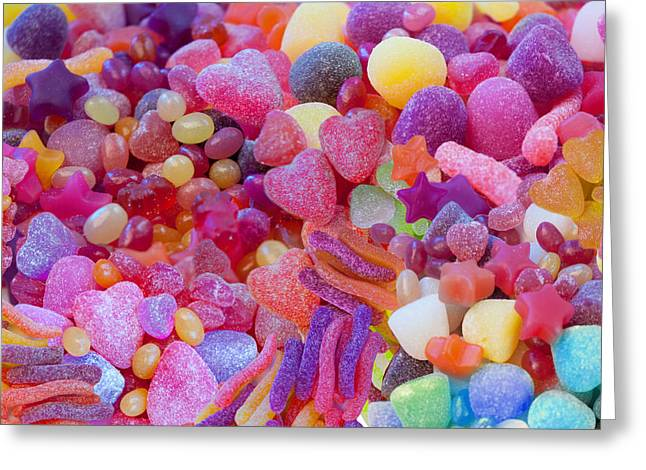 Digital Photographs Greeting Cards - Candlyland Gumdrops Greeting Card by Alixandra Mullins