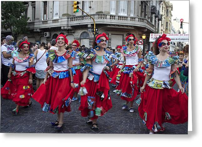 Slaves Greeting Cards - Candombe in Buenos Aires Greeting Card by Venetia Featherstone-Witty