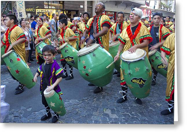 African Heritage Greeting Cards - Candombe in San Telmo Greeting Card by Venetia Featherstone-Witty