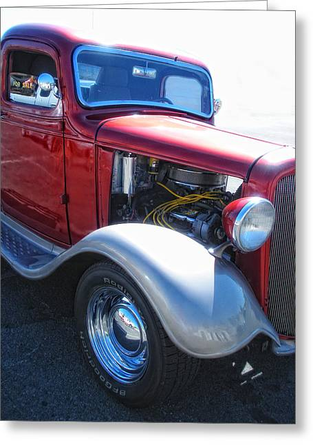 Old Trucks Greeting Cards - Candy Apple Greeting Card by Donna Blackhall