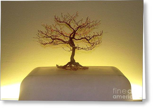 Sculpt Sculptures Greeting Cards - Candy Apple Tree Greeting Card by Brian Boyer
