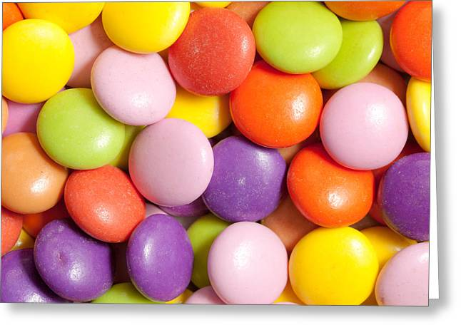 Different Groups Greeting Cards - Candy background Greeting Card by Tom Gowanlock