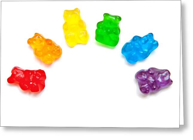 Gummy Candy Greeting Cards - Candy Bears Greeting Card by Art Block Collections