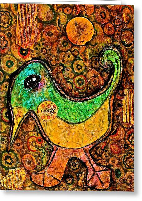 Candy Bird Greeting Card by Bellesouth Studio