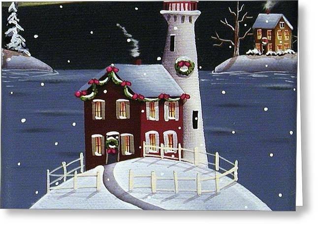 Catherine Greeting Cards - Candy Cane Cove Greeting Card by Catherine Holman