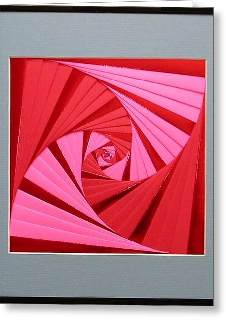 Artisan Made Greeting Cards - Candy Cane Greeting Card by Ron Davidson