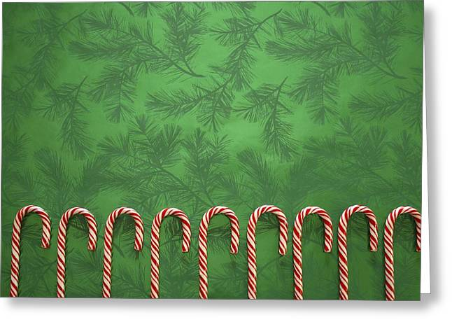 Candy Canes Greeting Card by Colette Scharf