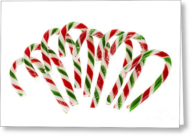 Candy Canes Greeting Card by Elena Elisseeva
