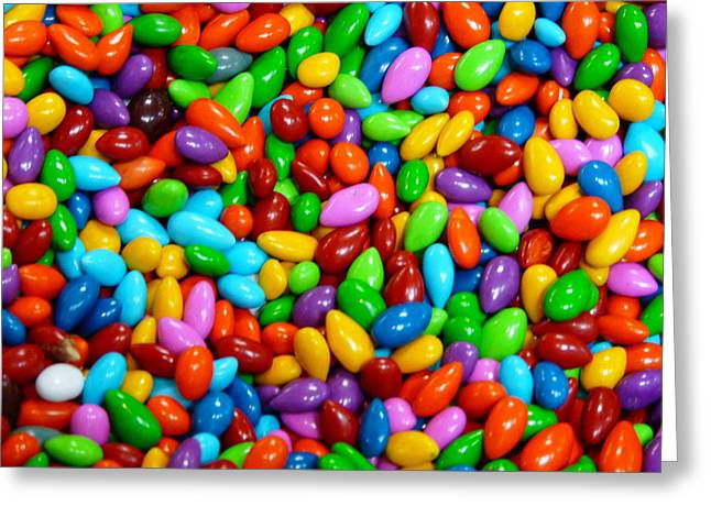 Jordan Almonds Greeting Cards - Candy Covered Almonds Greeting Card by Jeff Lowe