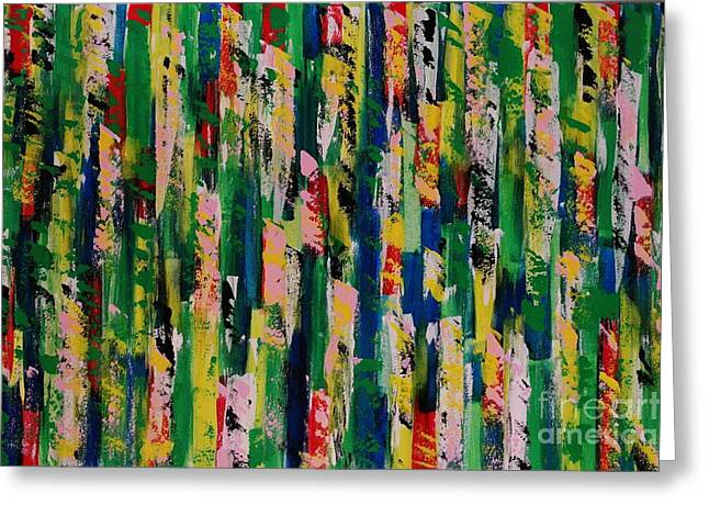 Colorful Paintings Greeting Cards - Candy Crush Greeting Card by Wayne Cantrell