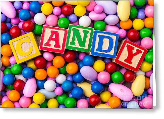 Sugary Greeting Cards - Candy Greeting Card by Edward Fielding