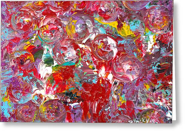 Candy Paintings Greeting Cards - Candy Factory Greeting Card by Donna Blackhall
