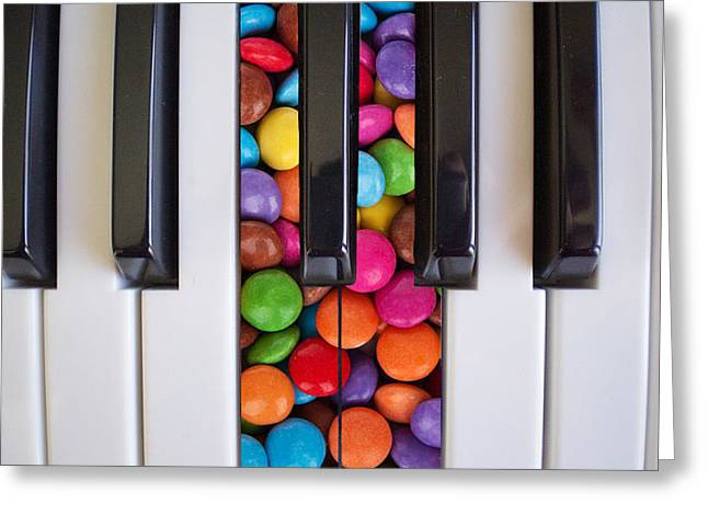 Candy Keys Greeting Card by Jean Gebhard