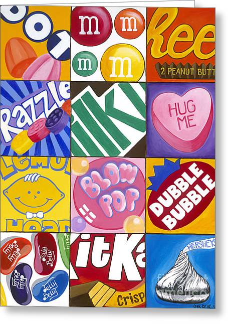 Carla Bank Greeting Cards - Candy Land Greeting Card by Carla Bank