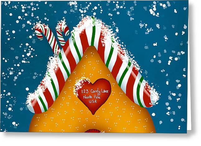 Candy Lane Greeting Card by Brenda Bryant