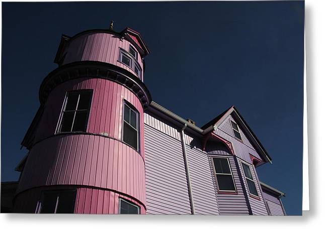 Ble Sky Greeting Cards - Candy Pink in Millbridge Greeting Card by Ross Lewis