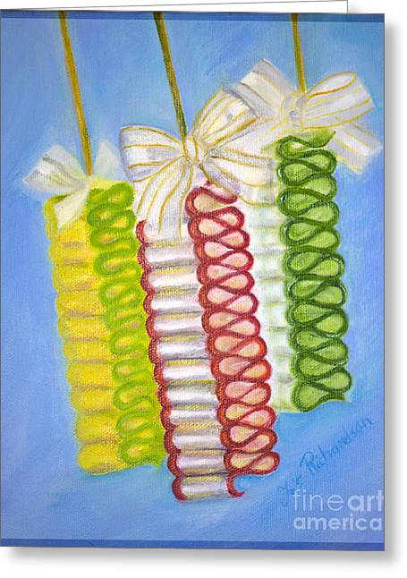 Commercial Photography Paintings Greeting Cards - Candy Ribbon  Greeting Card by Iris Richardson