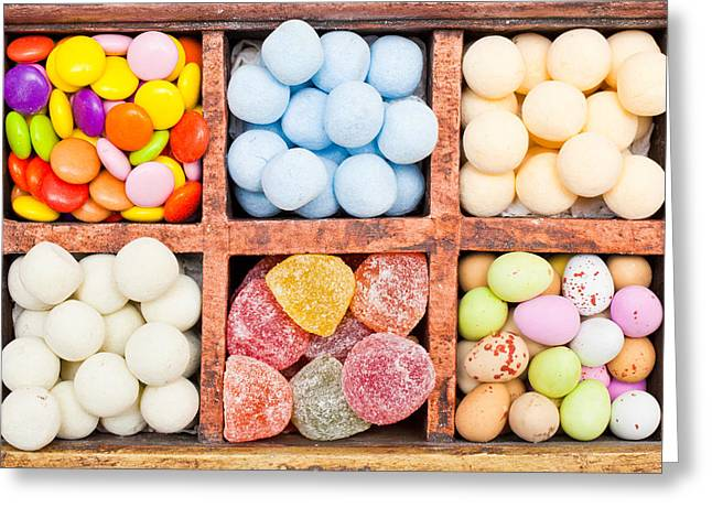 Choosing Photographs Greeting Cards - Candy selection Greeting Card by Tom Gowanlock