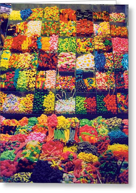 Gummi Candy Greeting Cards - Candy Store Greeting Card by Bill Jonas