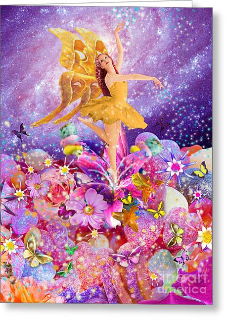 Digital Flower Greeting Cards - Candy Sugarplum Fairy Greeting Card by Alixandra Mullins