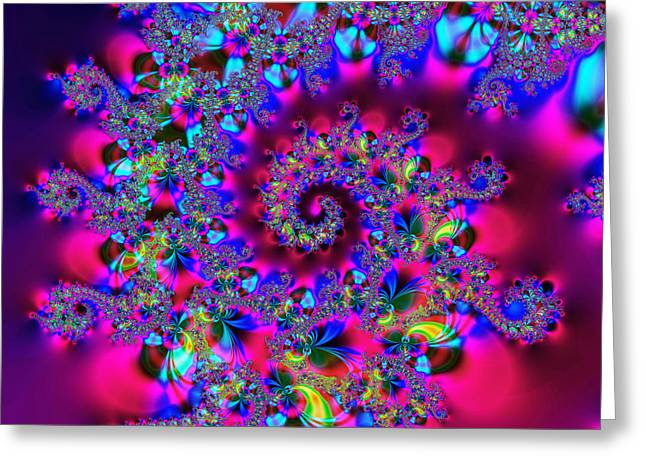 Algorithmic Abstract Greeting Cards - Candy Swirl Greeting Card by Ian Mitchell