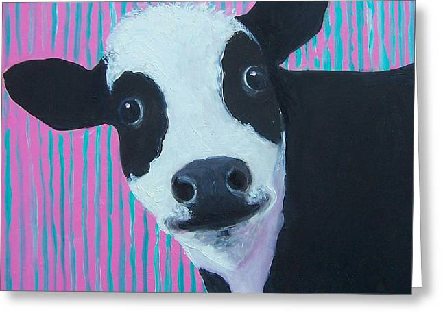 Cow Greeting Cards - Candy the Cow Greeting Card by Jan Matson