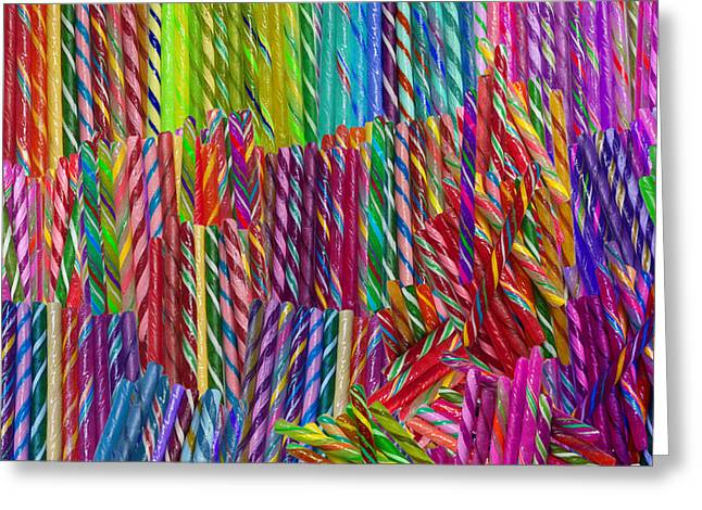 Alixandra Mullins Greeting Cards - Candy Twists Greeting Card by Alixandra Mullins