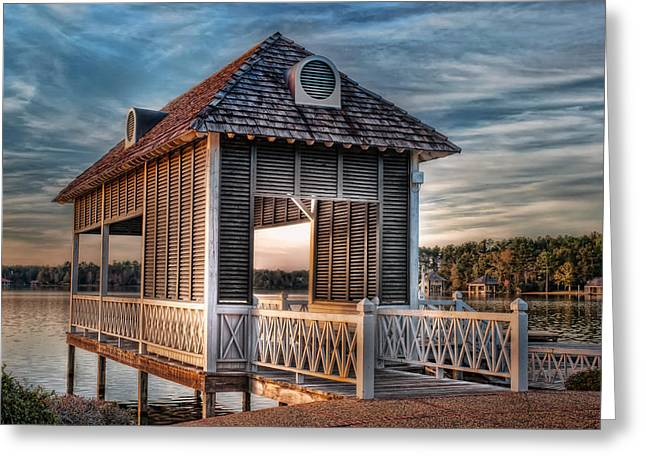Canebrake Boat House Greeting Card by Brenda Bryant