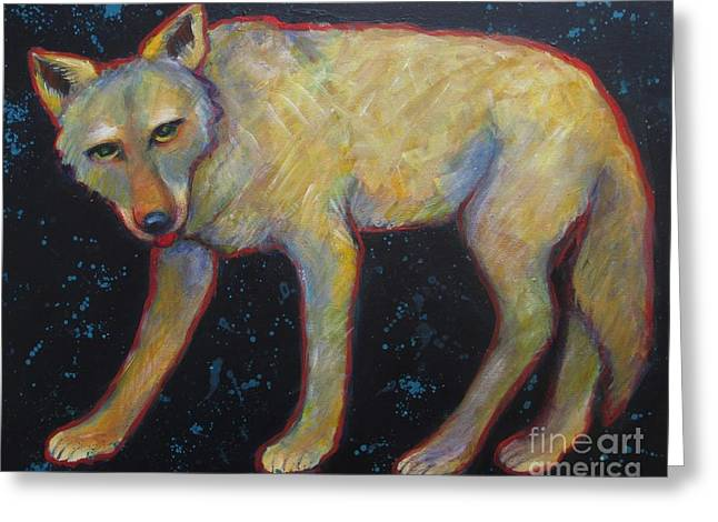 Brush Wolf Greeting Cards - Canis Latrans  Greeting Card by Carol Suzanne Niebuhr