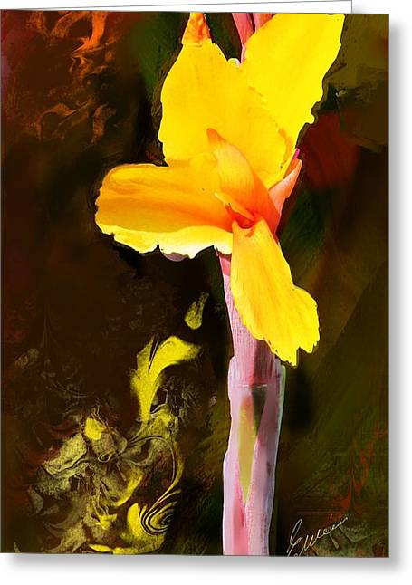 Canna Digital Art Greeting Cards - Canna Lily  Greeting Card by Elaine Weiss