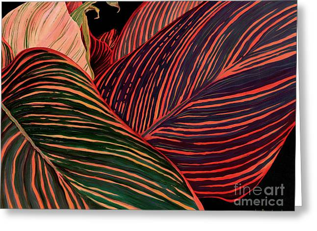Canna Greeting Cards - Cannas Leaves Greeting Card by Kenneth Hershenson