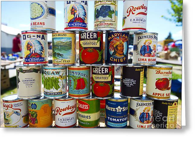 Canned Fruit Greeting Cards - Canned Greeting Card by David Bearden